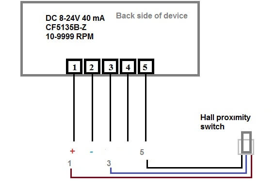 5 prong relay wiring diagram cat 3 usefulldata com digital led rpm speedometer tachometer with hall schematic cf5135b z