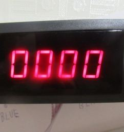 tachometer has black plastic box have clips for panel placement to electrical cabinet or other box display have 4 digits can buy blue or red its dimensions  [ 1024 x 768 Pixel ]