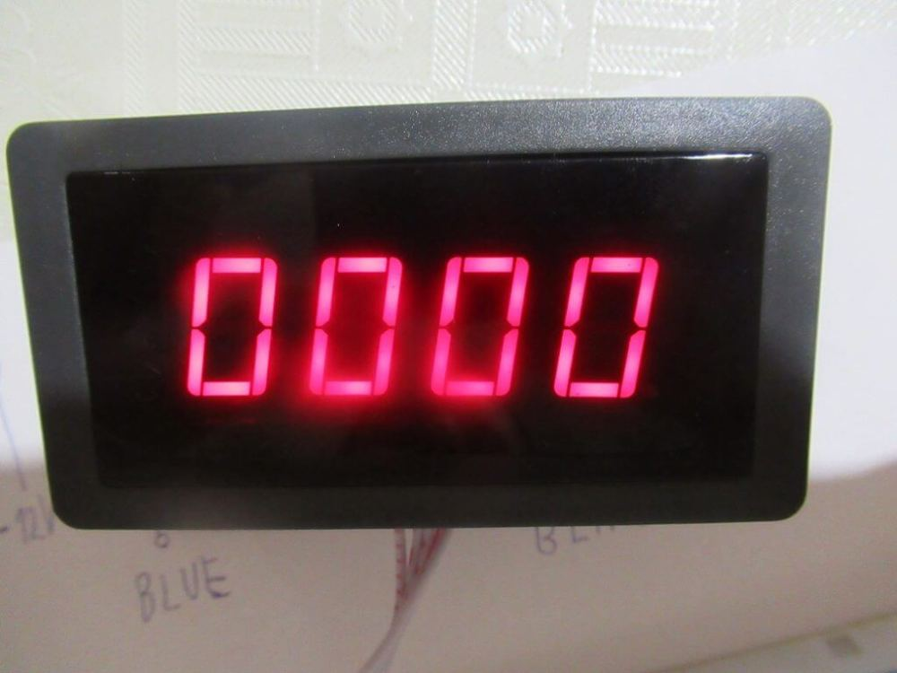 medium resolution of tachometer has black plastic box have clips for panel placement to electrical cabinet or other box display have 4 digits can buy blue or red its dimensions