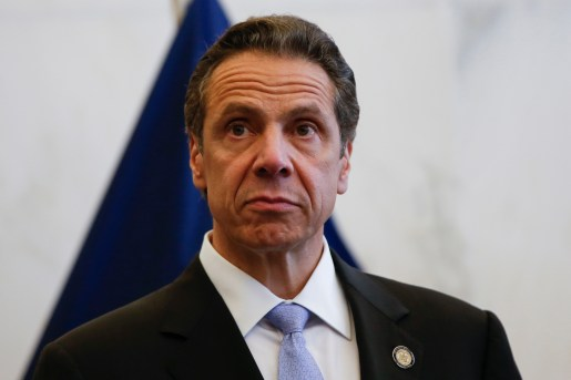 New York Governor Andrew M. Cuomo stands during a news conference following a bi-state meeting on regional security and preparedness in New York, September 15, 2014. REUTERS/Shannon Stapleton (UNITED STATES - Tags: POLITICS DISASTER HEADSHOT) - RTR46CAA
