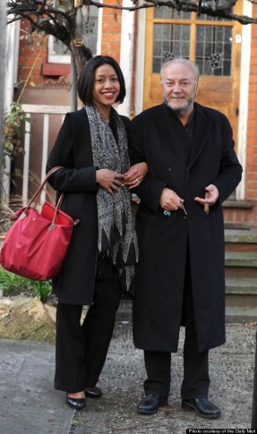 George Galloway returns to his property on Ambleside Avenue, Stretham, with his new wife, Putri Gayatri Pertiwi. (please confirm Identity) 2/4/12