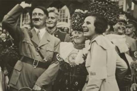 Adolf-Hitler-and-filmmaker-Leni-Riefenstahl-with-joyous-smiles