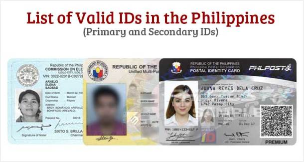List of Valid IDs in the Philippines
