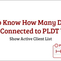 How to Know How Many Devices Are Connected to PLDT Wifi