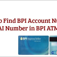 How to Find BPI Account Number and JAI Number in BPI ATM Card