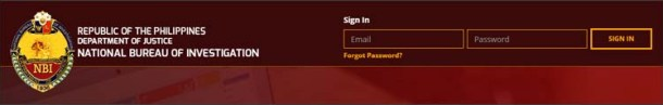 Step 3 Sign in to your NBI Clearance Account