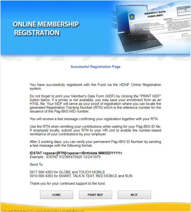4 Successful Registration Page
