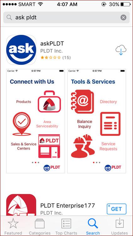 First - askPLDT app