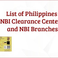 List of Philippines NBI Clearance Centers and NBI Branches