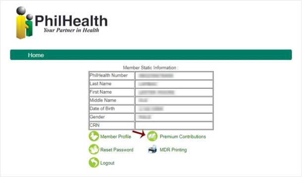 Step 5 Check PhilHealth Contribution