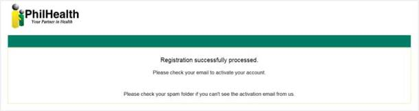 Successful Registration Message