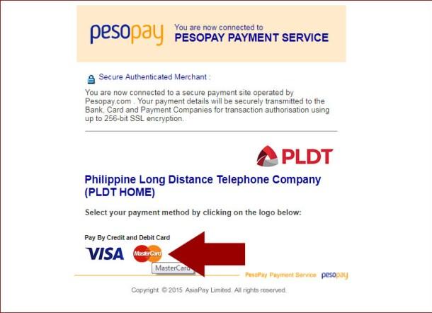 Third Step - Visa or MasterCard