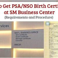 How to Get PSA or NSO Birth Certificate at SM Business Center
