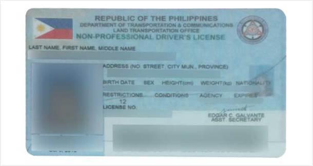 Non-Professional Drivers License