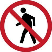 6. No entry for Pedestrians