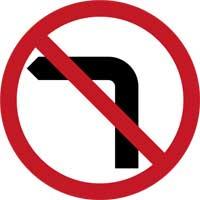 8. No Left Turn
