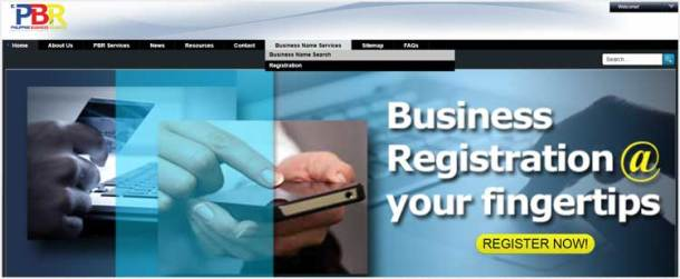 Step 1. Access the Business Name Registration System