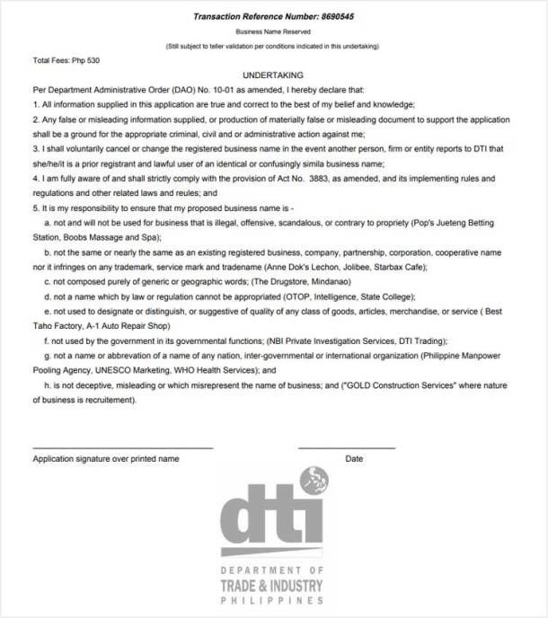 Step 9a. TRN Acknowledgement