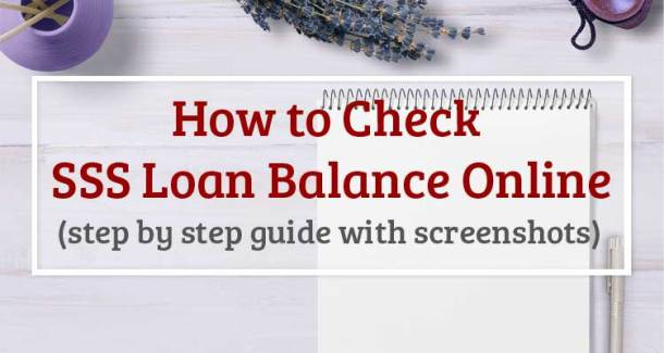 How to Check SSS Loan Balance Online