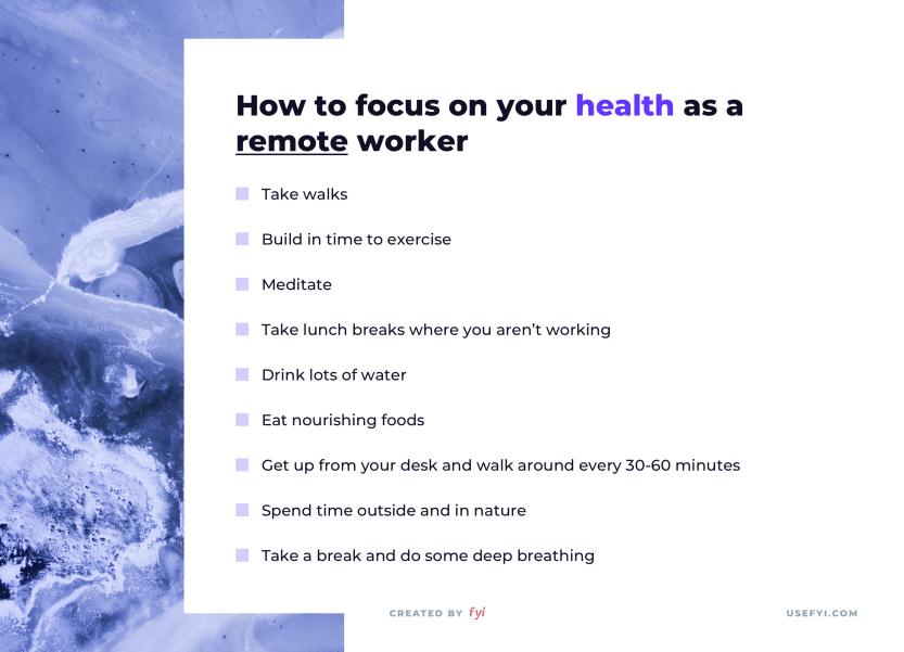remote work health
