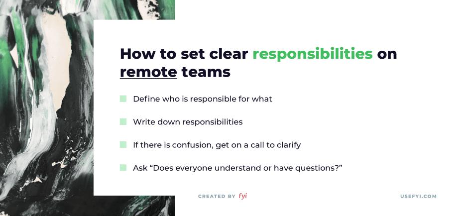 remote work responsibilities