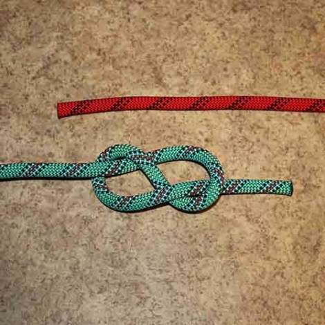Figure 8 bend step by step how to tie instructions