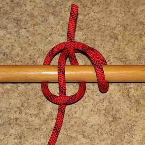 Sailor's hitch step by step how to tie instructions