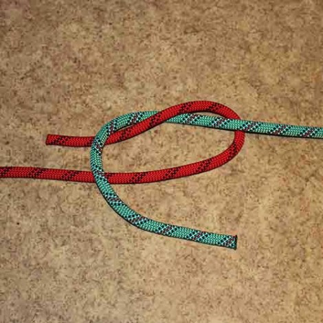 Sheet bend step by step how to tie instructions