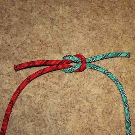 Square knot step by step how to tie instructions