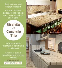 Granite vs. Ceramic Tile Countertops | What Is The Difference?