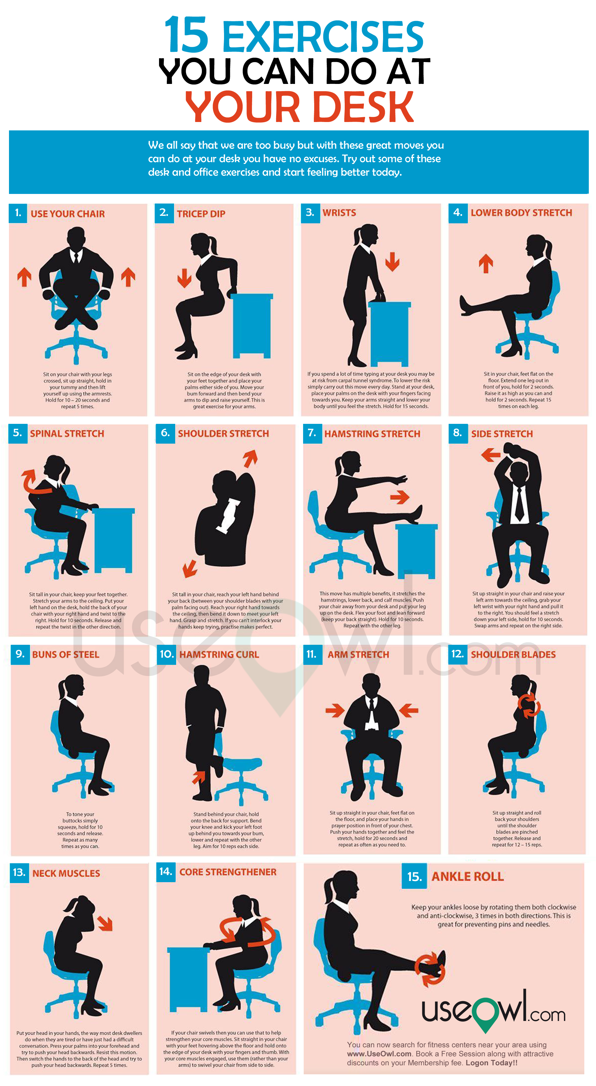 Office Chair Exercises 5 Healthy Habits To Combat The 9 5 Office Life Sfu Olc