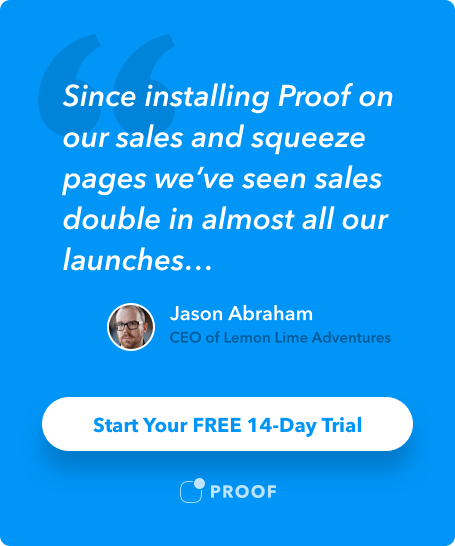 Social Proof ad example
