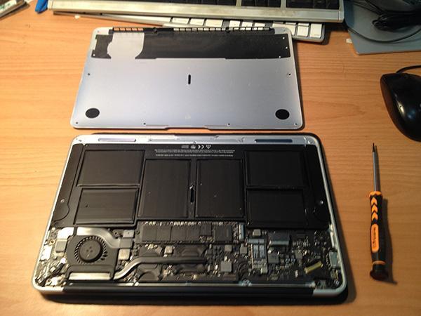 [DIY 筆記] 自己更換 Macbook Air 的鍵盤 « sdlong's Blog