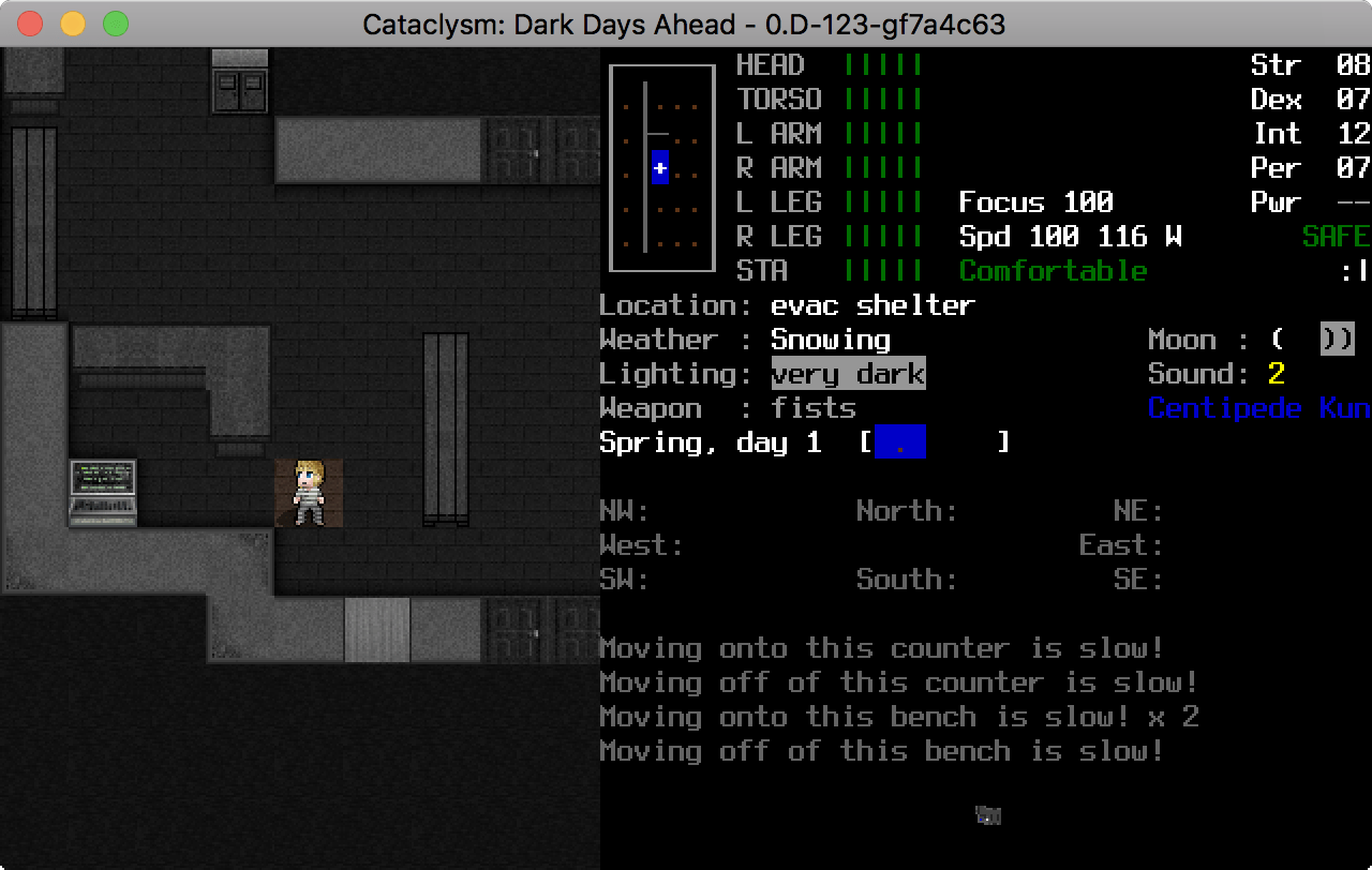 Screenshot of Cataclysm:DDA 0.D