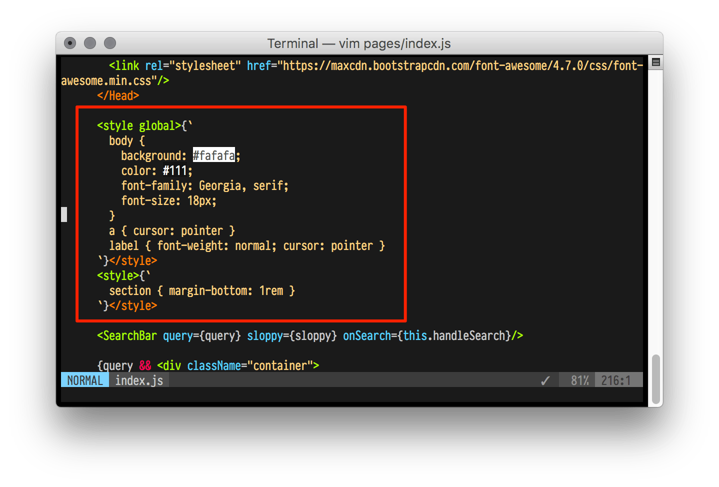 Can't get this to work with vim-polyglot. or at all · Issue #1 · alampros/vim-styled-jsx · GitHub