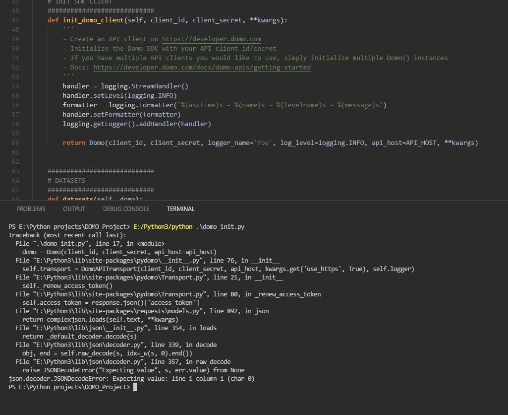 jsondecodeerror issue 25 domoinc