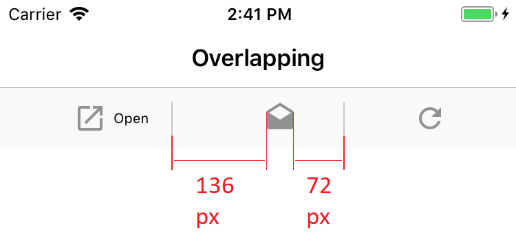 [iOS] Secondary Toolbar Items overlapping · Issue #2798