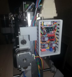 as promised i post pictures of electroconducting of my cnc arduino uno grbl shield all the wiring at the entrance to the controller i put in three  [ 2448 x 3264 Pixel ]