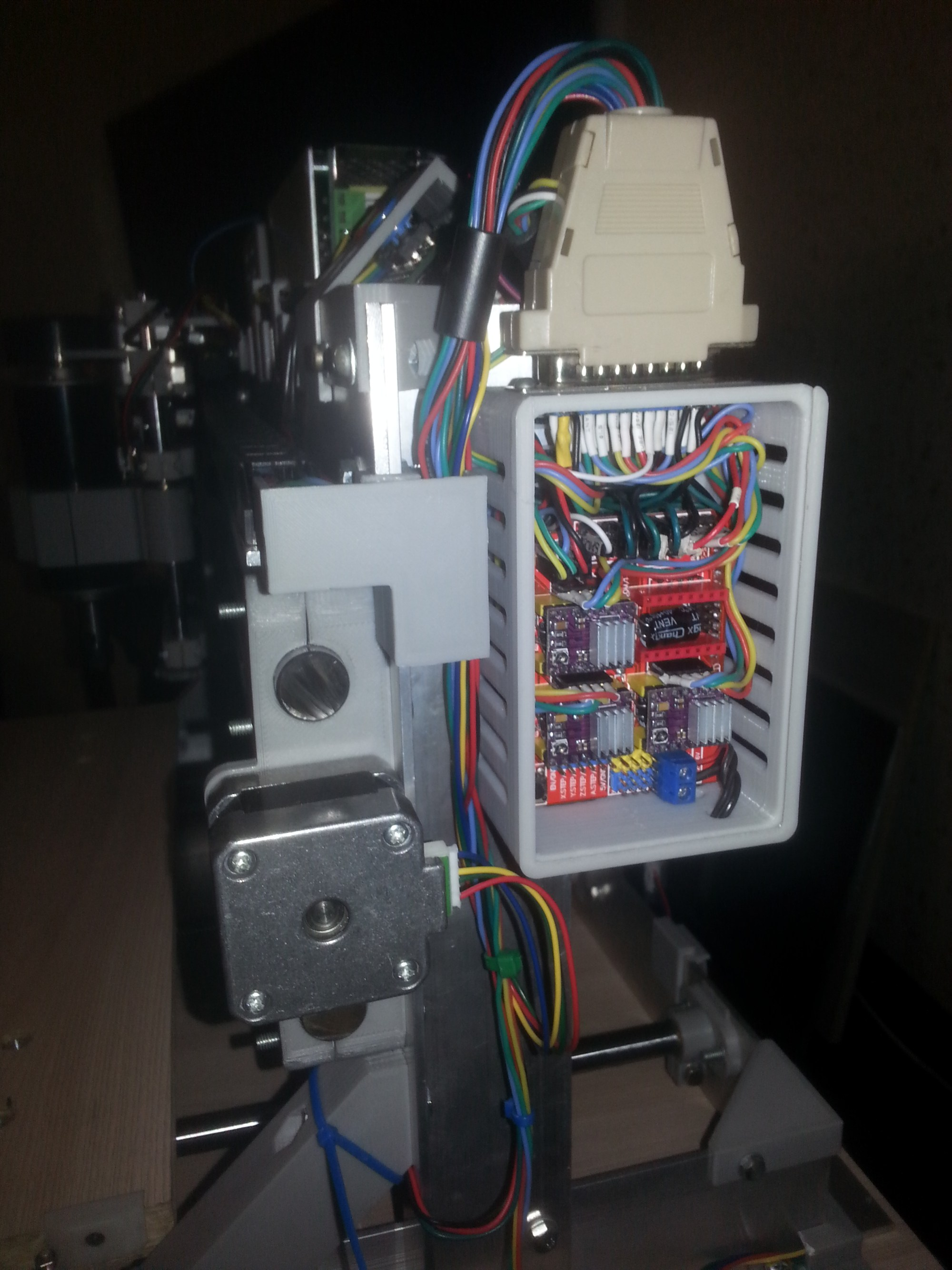 hight resolution of as promised i post pictures of electroconducting of my cnc arduino uno grbl shield all the wiring at the entrance to the controller i put in three
