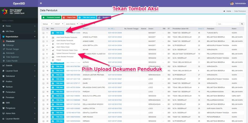 upload dokumen