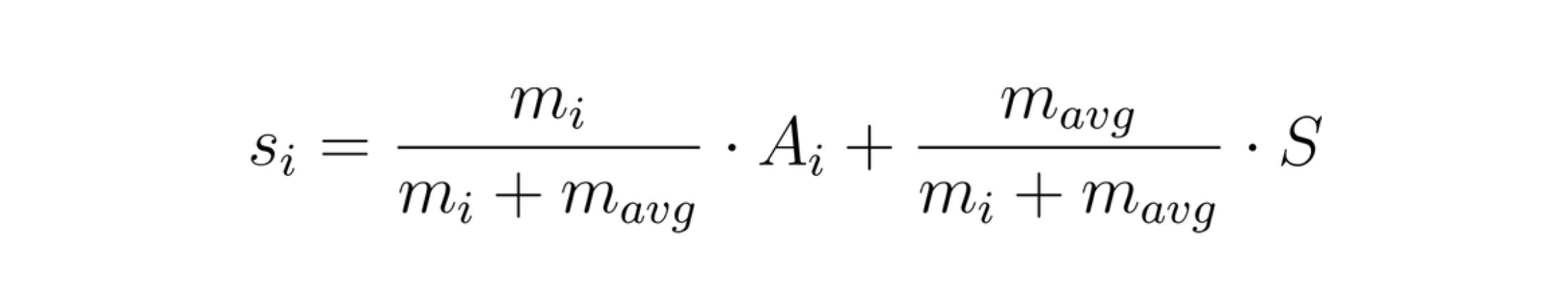 scoring function for bayesian average rating system