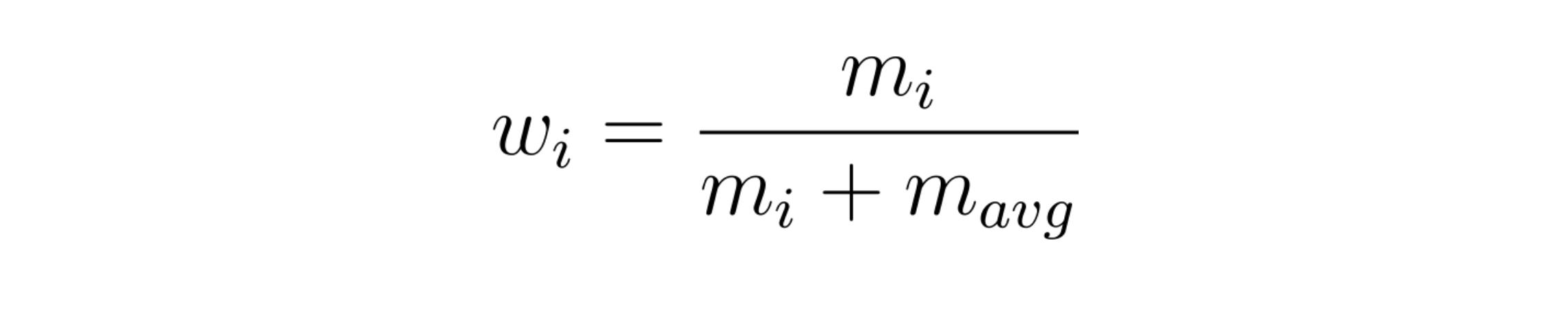 weight function for bayesian average