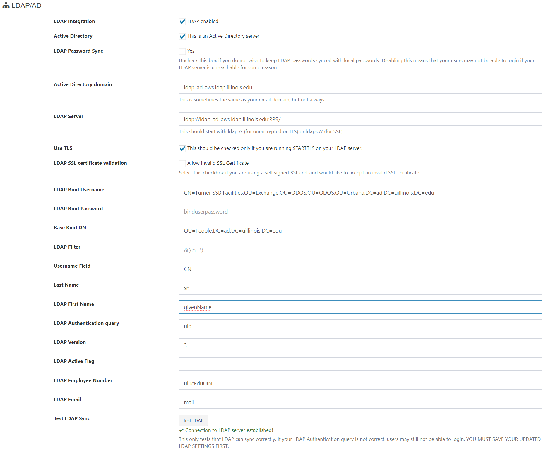 LDAP Able to Connect to Server on