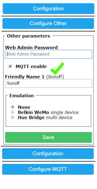 Enable MQTT