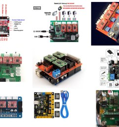 this board receive gcode commands from lasergrbl and produce signals for driving stepper motor and laser or cnc spindle here is some board samples  [ 3508 x 2480 Pixel ]