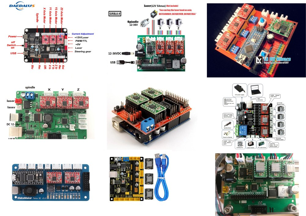 medium resolution of this board receive gcode commands from lasergrbl and produce signals for driving stepper motor and laser or cnc spindle here is some board samples