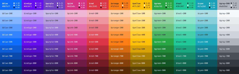 Bootstrap 5 color palette