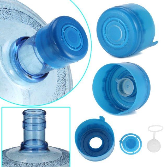 5 Pcs Non Spill Water Cap Gallon Jug Bottle Caps Reusable Blue Lid Drinking New
