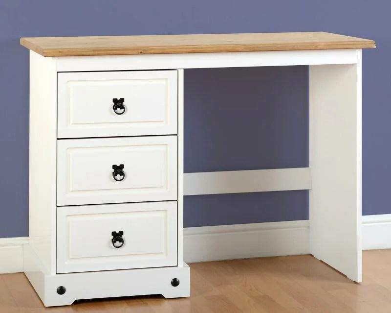 white corona 3 draw dressing table