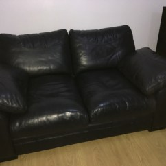 Black 3 Seater Sofa And Cuddle Chair Lazy Boy Motion Leather 2 Chairs Village